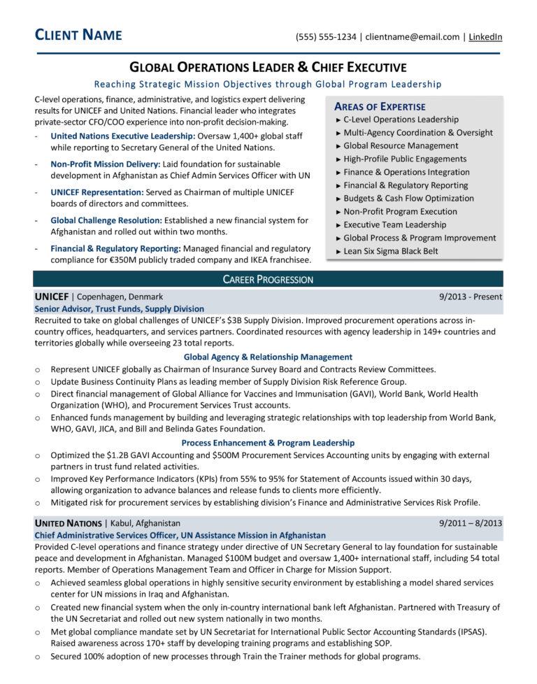 sample resume  rp career