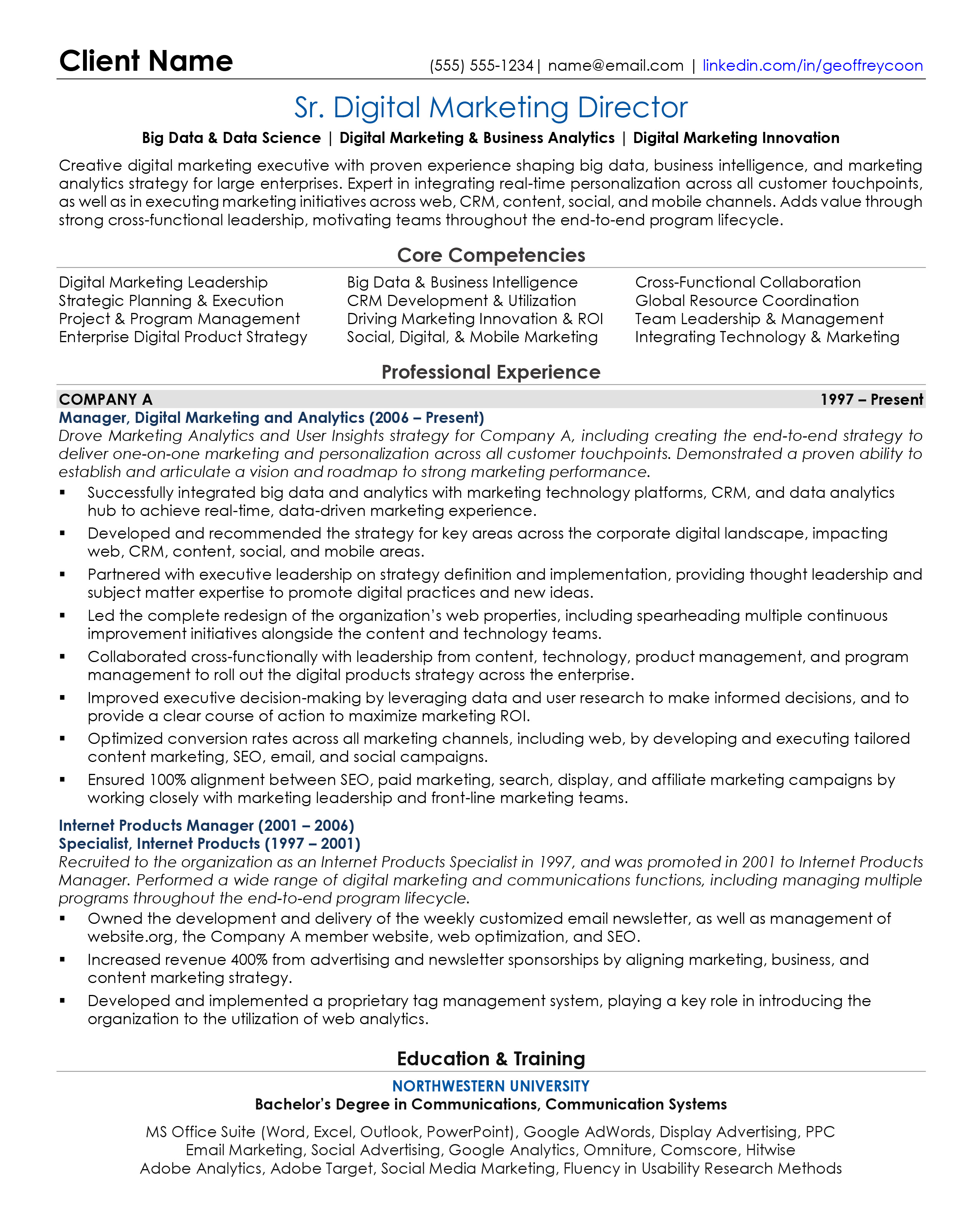 Sample Resume – RP Career