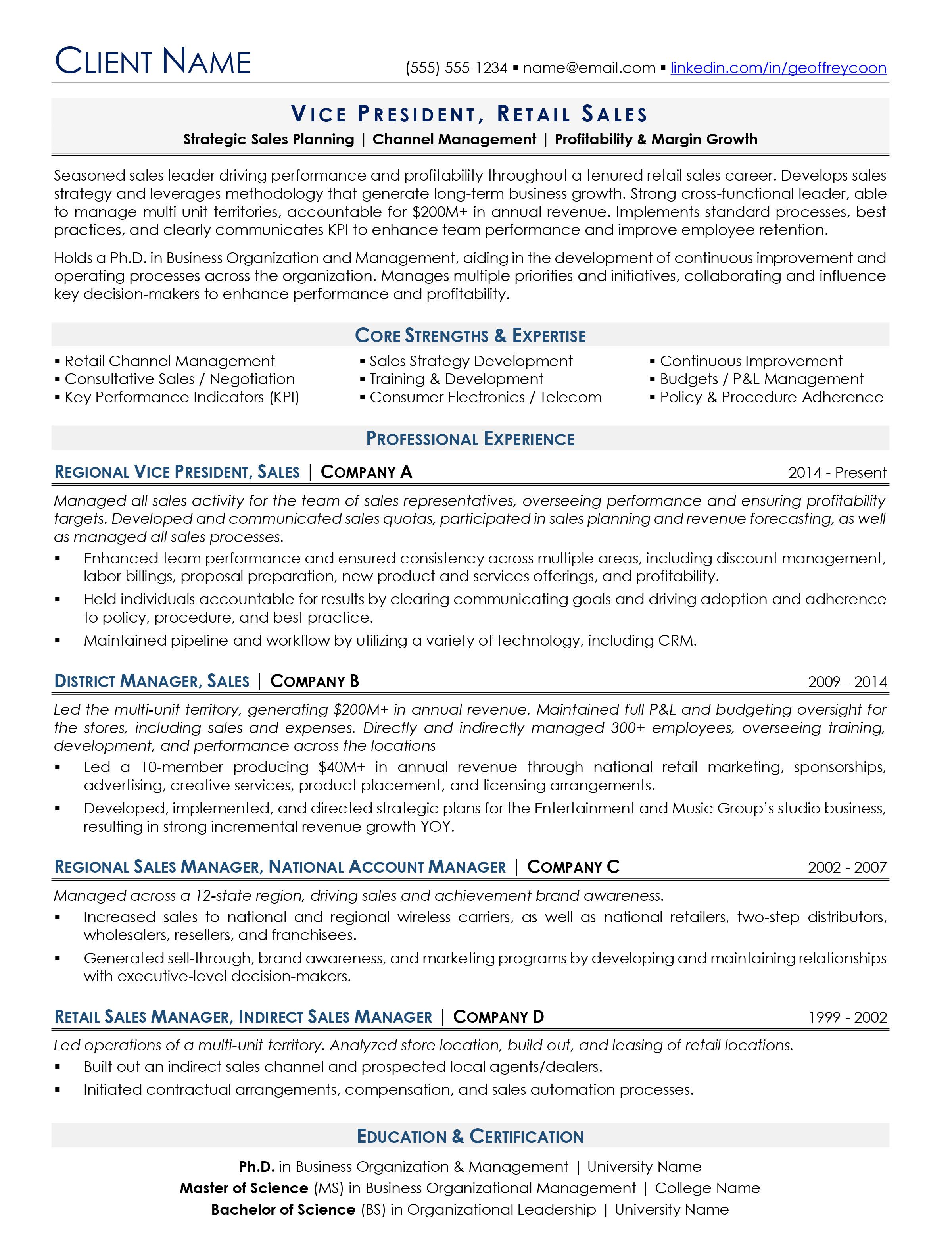 Sample Resume  Free Resume Evaluation